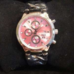 JIVAGO Levley Silver Pink Dial Ladies Watch JV1225